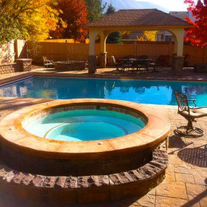 Above Ground Pool with Hot Tub Installation in Salt Lake City