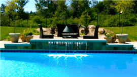 Water Features by Deep Blue Pools and Spas