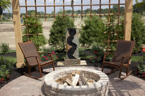 Outdoor Fire Pit by Deep Blue Pools and Spas