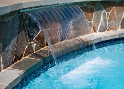Pool Water Features by Deep Blue Pools and Spas
