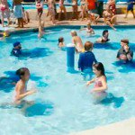 Blue Urine Dye In a Swimming Pool Clean Services